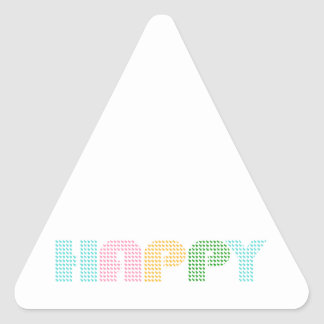 Happy Terrier Prints Triangle Sticker