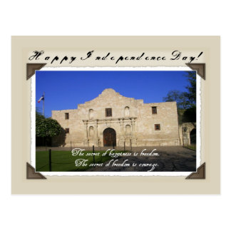 Happy Texas Independence Day-The Alamo Postcard