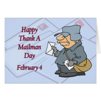 Happy Thank a Mailman Day February 4 Card