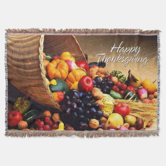 Happy Thanksgiving 12 Throw Blanket