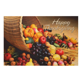 Happy Thanksgiving 12 Wood Wall Art
