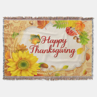 Happy Thanksgiving 13 Throw Blanket
