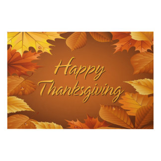 Happy Thanksgiving 1 Options Wood Wall Art
