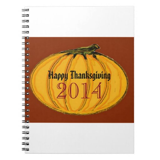 HAPPY THANKSGIVING 2014b green white jGibney The M Spiral Note Books