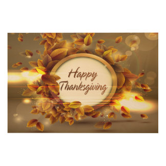 Happy Thanksgiving 3 Options Wood Wall Art