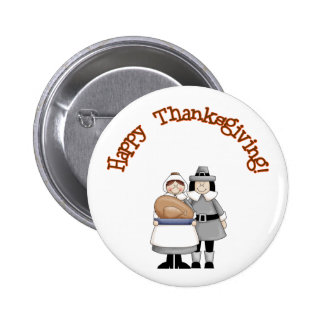 HAPPY THANKSGIVING 4 PINBACK BUTTONS