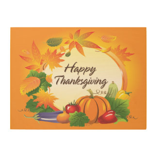 Happy Thanksgiving 5 Options Wood Wall Art