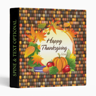Happy Thanksgiving 5A-13A Options 3 Ring Binder