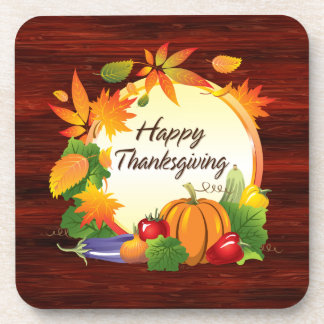 Happy Thanksgiving 5A Coaster