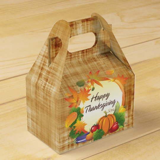 Happy Thanksgiving 5A Options Favor Box