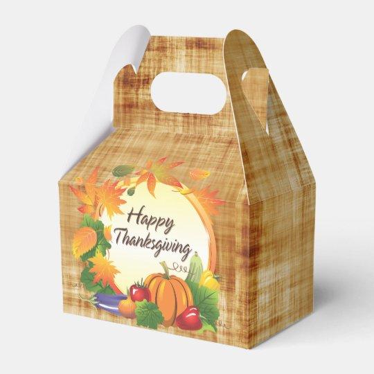 Happy Thanksgiving 5A Options Wedding Favor Box