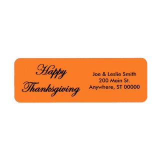 """Happy Thanksgiving"" Address Labels"