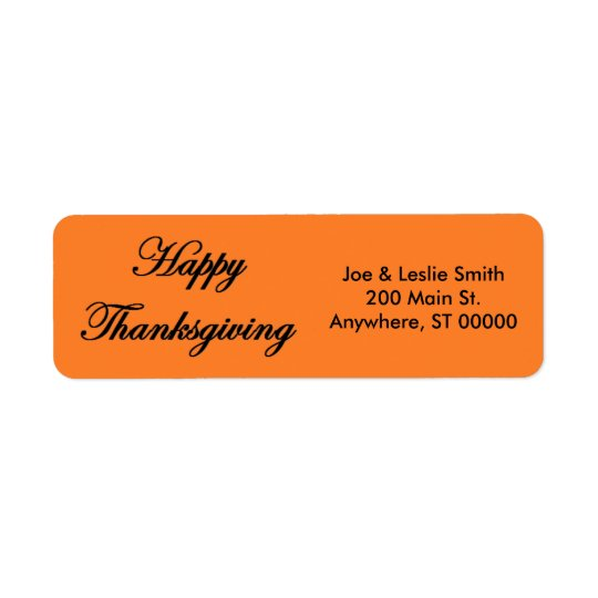 """Happy Thanksgiving"" Address Labels"