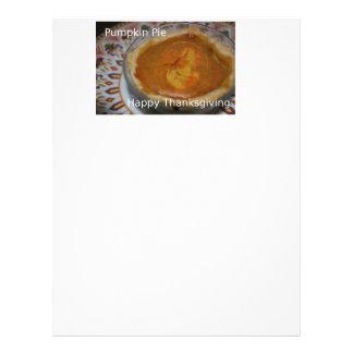 Happy Thanksgiving And Pumpkin Pie Letterhead