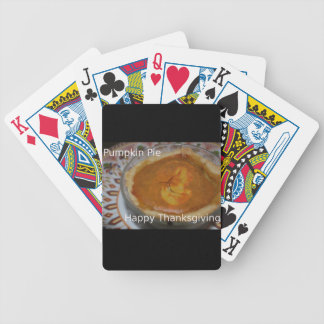 Happy Thanksgiving And Pumpkin Pie Poker Deck