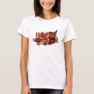 Happy Thanksgiving Autumn Harvest Cornucopia Fall T-Shirt