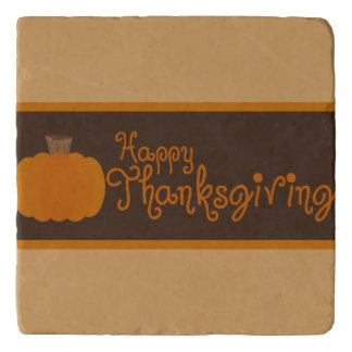Happy Thanksgiving Autumn Pumpkin Trivet