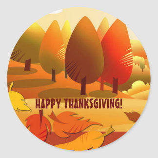 Happy Thanksgiving. Autumn Scenery Stickers