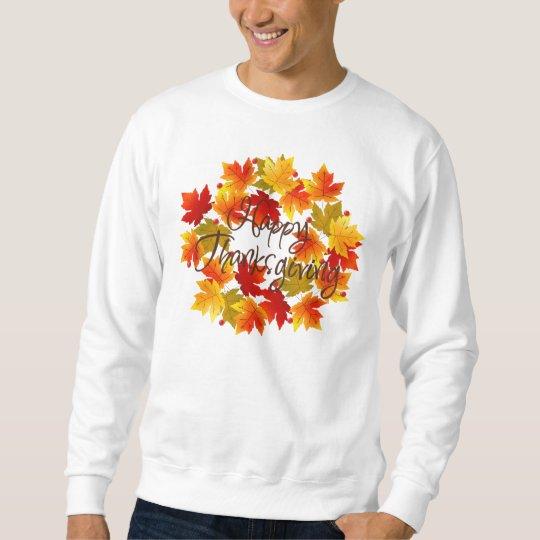 Happy Thanksgiving Autumn Wreath Sweatshirt