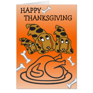 Happy Thanksgiving Card Turkey Dachshund