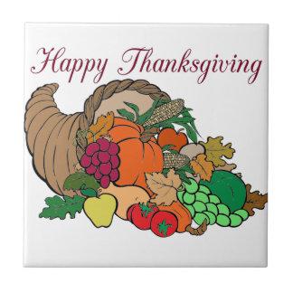 Happy Thanksgiving Ceramic Tiles