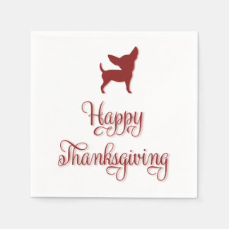 Happy Thanksgiving Chihuahua Paper Napkins