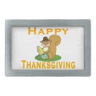 Happy Thanksgiving Chipmunk With Corn Belt Buckle