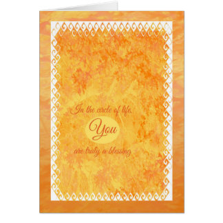 Happy Thanksgiving Circle of Life Card