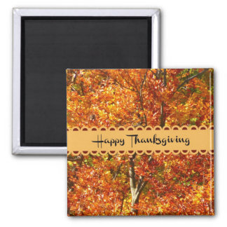 Happy Thanksgiving - Colors of Autumn Magnet