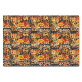 """Happy Thanksgiving,"" Colors of Autumn Tissue Paper"