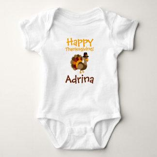 Happy Thanksgiving Custom Baby Tutu Bodysuit
