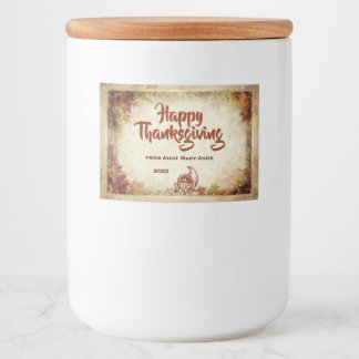 Happy Thanksgiving (customizable) Food Label