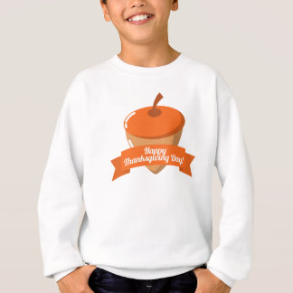 Happy Thanksgiving Day Chestnut Design Sweatshirt