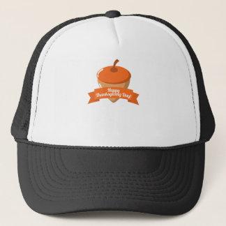 Happy Thanksgiving Day Chestnut Design Trucker Hat