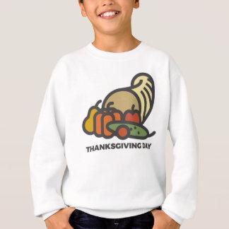 Happy Thanksgiving Day Cornucopia Design Sweatshirt