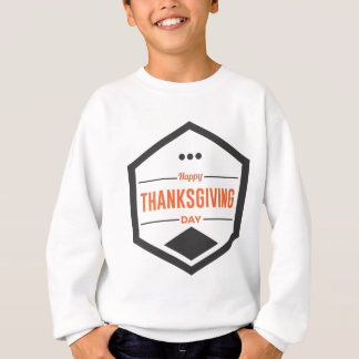 Happy Thanksgiving Day Design Sweatshirt