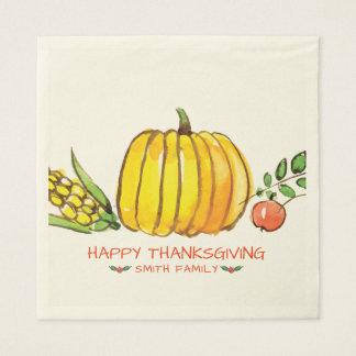 Happy Thanksgiving Day Family Dinner Celebration Disposable Napkin