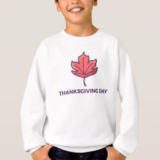 Happy Thanksgiving Day Maple Leaf Design Sweatshirt