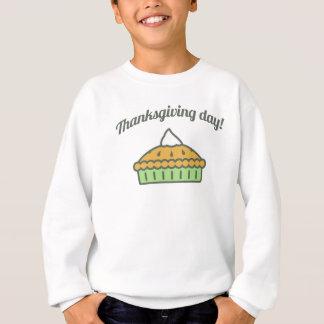 Happy Thanksgiving Day Pie Design Sweatshirt