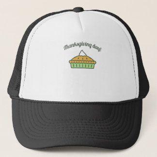 Happy Thanksgiving Day Pie Design Trucker Hat