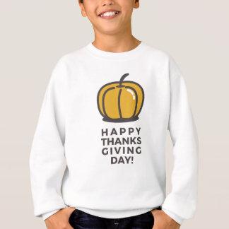 Happy Thanksgiving Day Pumpkin Design Sweatshirt