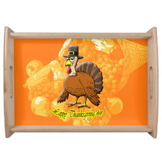 Happy Thanksgiving day serving tray. Serving Tray