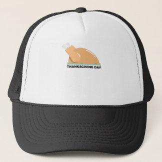 Happy Thanksgiving Day Turkey Design Trucker Hat