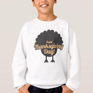 Happy Thanksgiving Day Turkey Gobble Design Sweatshirt
