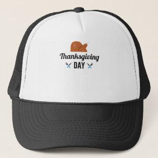 Happy Thanksgiving Day Turkey Trucker Hat
