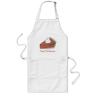 Happy Thanksgiving Dinner Pumpkin Pie Slice Apron