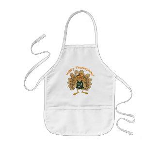 Happy Thanksgiving Eat Me Kids Apron