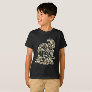 Happy Thanksgiving Elegant Golden Cornucopia T-Shirt