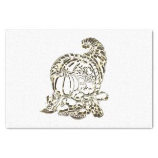 Happy Thanksgiving Elegant Golden Cornucopia Tissue Paper