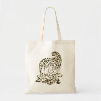 Happy Thanksgiving Elegant Golden Cornucopia Tote Bag
